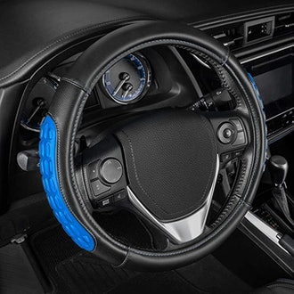 BDK Steering Wheel Cover with Microfiber Leather