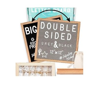 Little Hippo Double Sided Letter Board