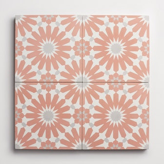 Cement Alhambra Red Clay Square (1 piece)