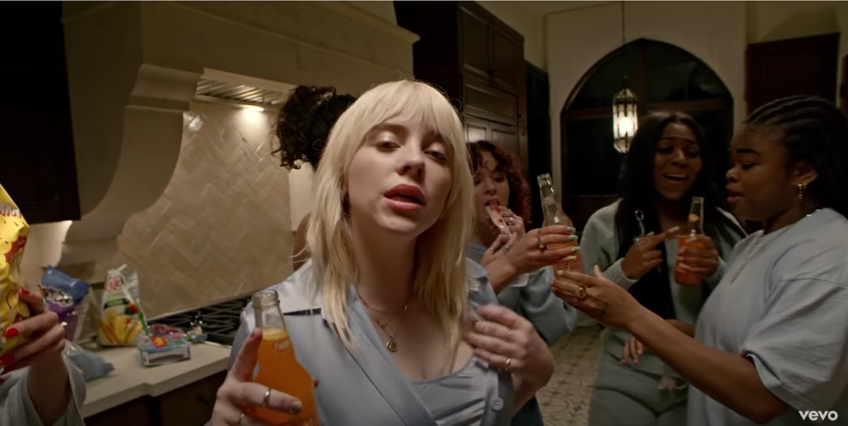"""Billie Eilish enjoys hanging with her friends in the music video for """"Lost Cause."""""""