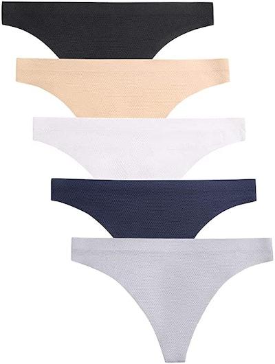 VOENXE Seamless Thongs (5-Pack)