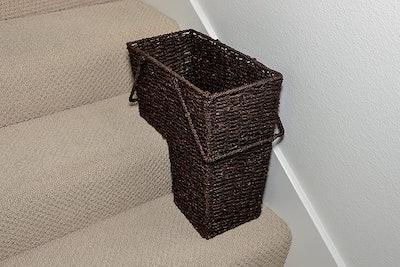 Trademark Innovations Storage Stair Basket