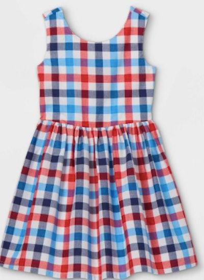 Gingham Woven Sleeveless Dress