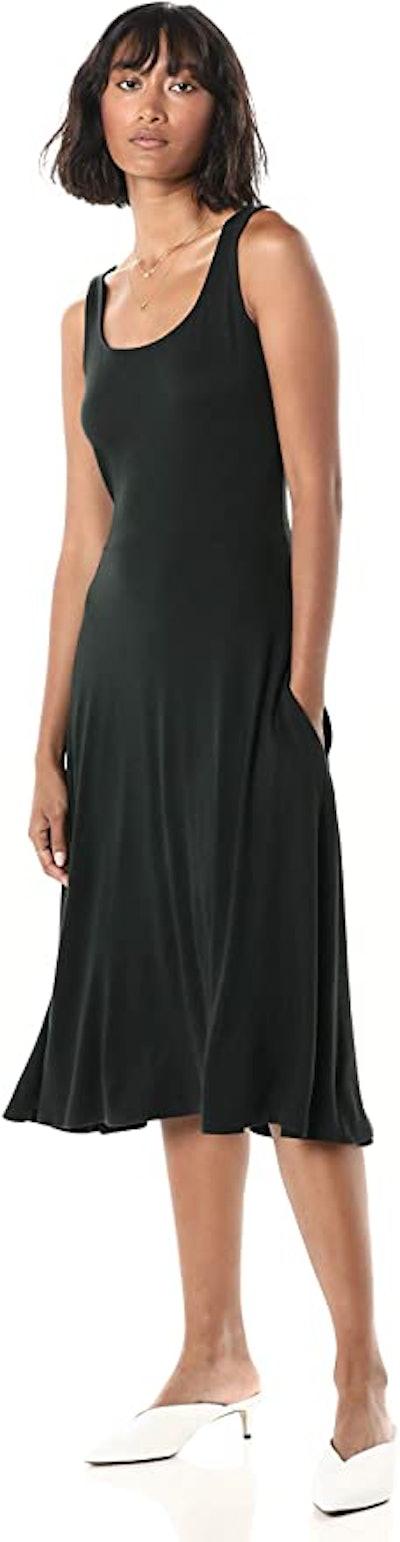 The Drop Square Neck Sleeveless Midi Dress