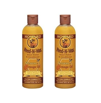 Howard Feed-n-Wax Wood Polish & Conditioner (3-Pack)