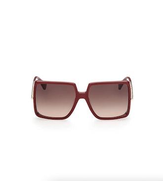 58mm Gradient Square Sunglasses