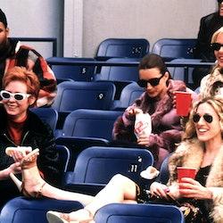 The cast of Sex and the City, including Sarah Jessica Parker, Kristin Davis, Cynthia Nixon, Kim Cattrall