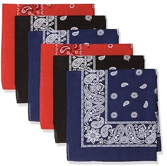 Levi's Men's 100% Cotton Multi-Purpose Bandana Gift Set