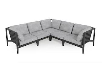 Aluminum Outdoor Corner Sectional - 5 Seat