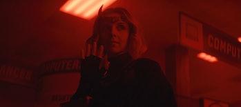 Sophia Di Martino as Lady Loki covered in red light in Loki Episode 2