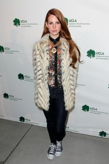 Lana Del Rey in a fur coat
