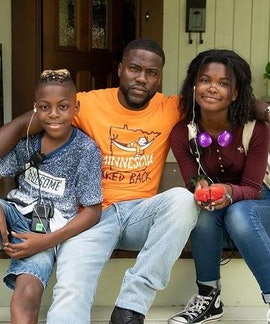 Kevin Hart with son, Hendriz and daughter, Heaven Hart, on May, 28, 2021.