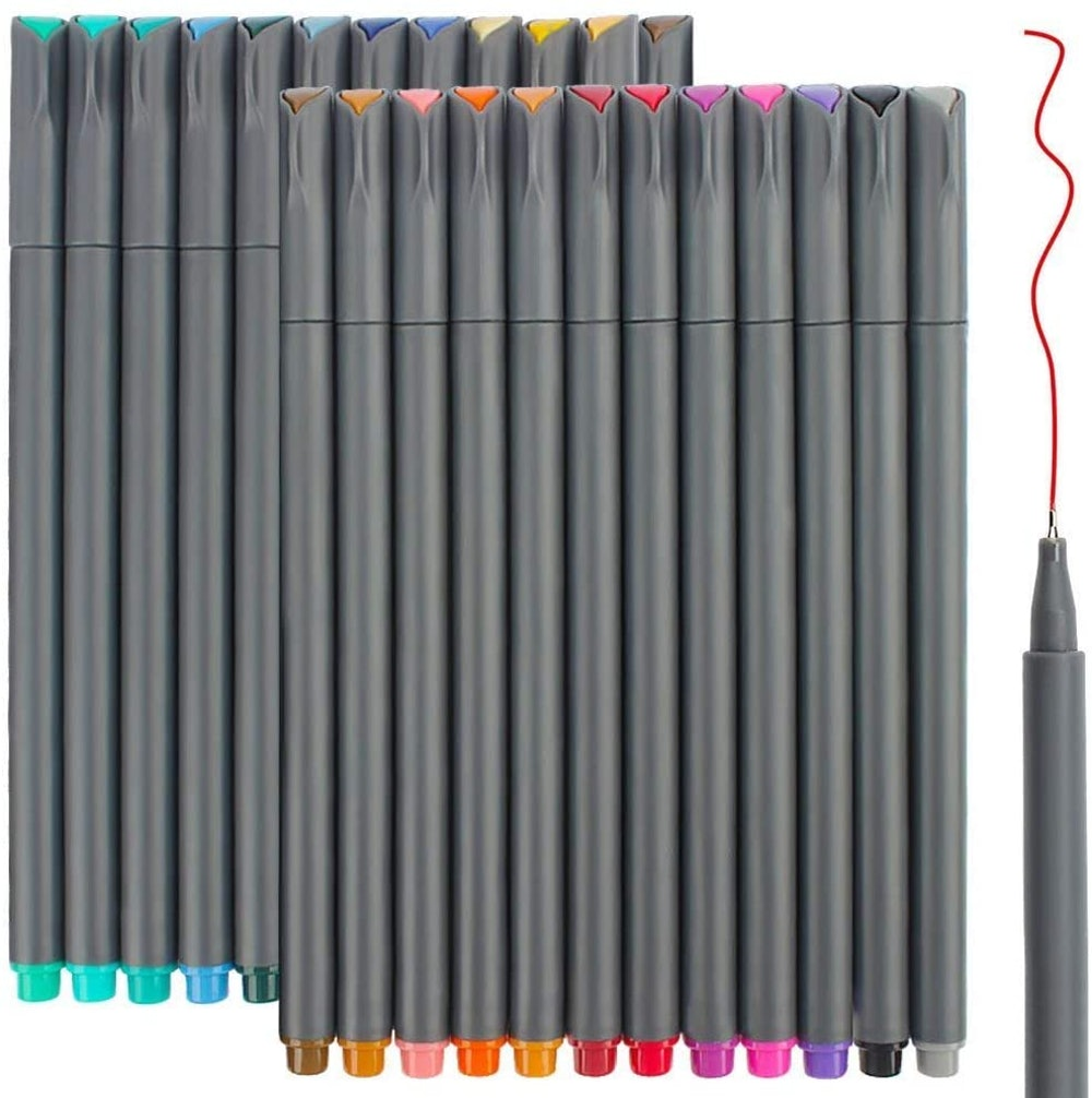 Fineliner Color Pens Set (24-Pack)