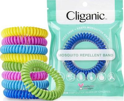 Cliganic DEET-Free Mosquito Repellent Bracelets (10-pack)