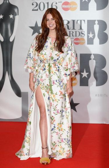 Lana Del Rey wearing florals