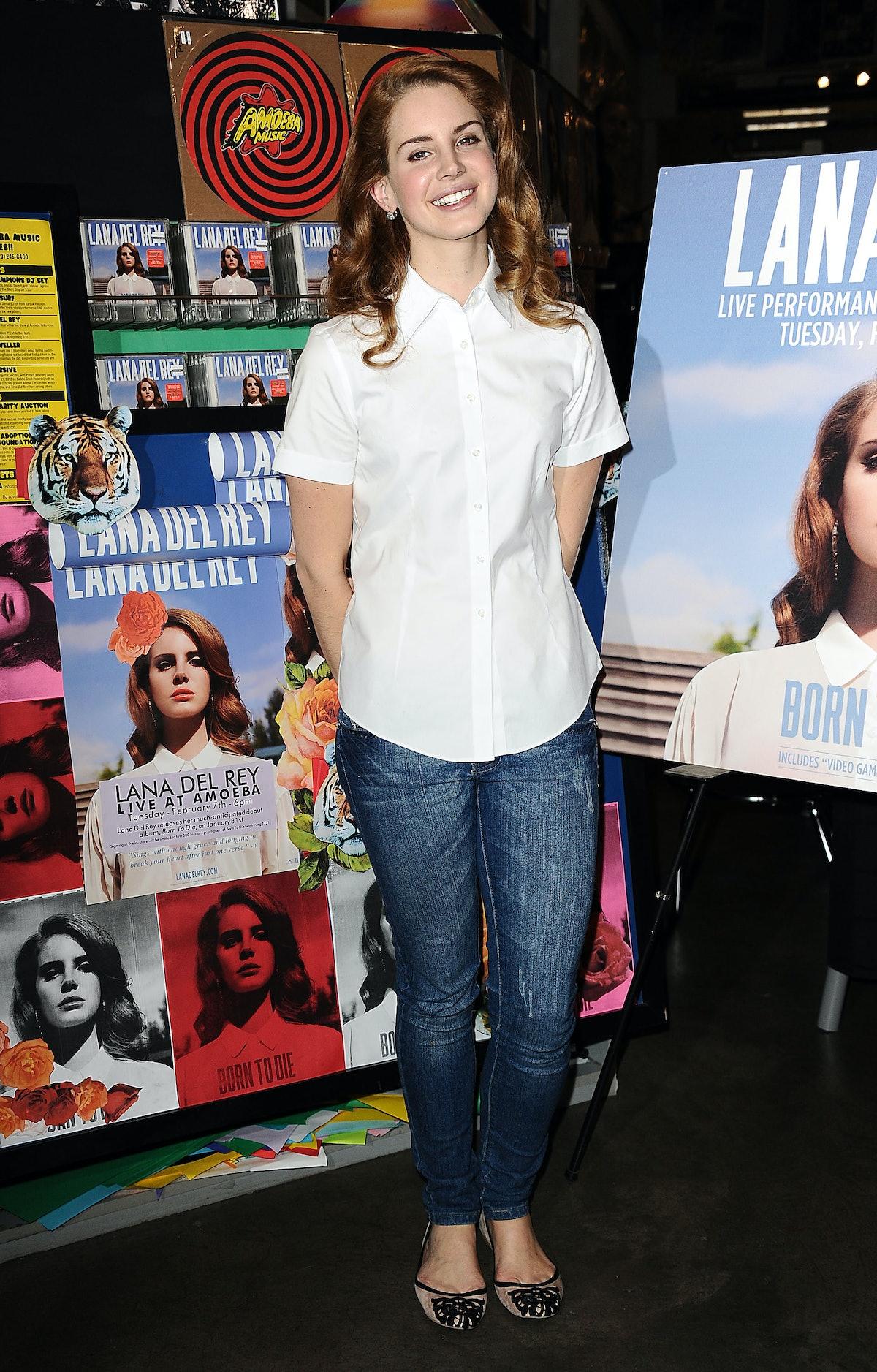 Lana Del Rey at Amoeba Music