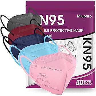 KN95 Face Masks, 50 Pieces (Multicolor)
