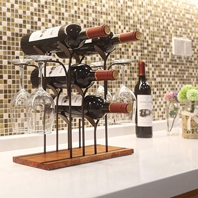 Tabletop Wood Wine Holder