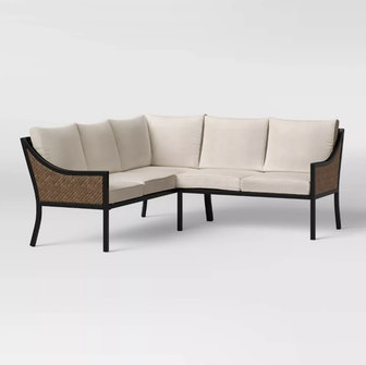 Caning Modern Patio Sectional