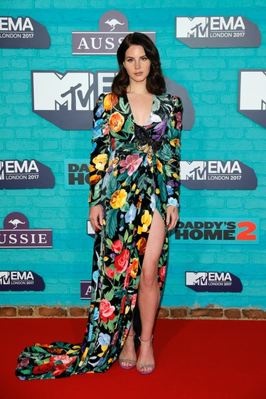 Lana Del Rey wearing floral Gucci