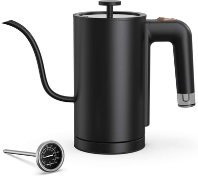 Willsence Electric Gooseneck Kettle with Thermometer