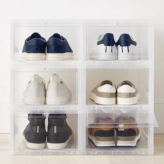 Large Drop-Front Shoe Box