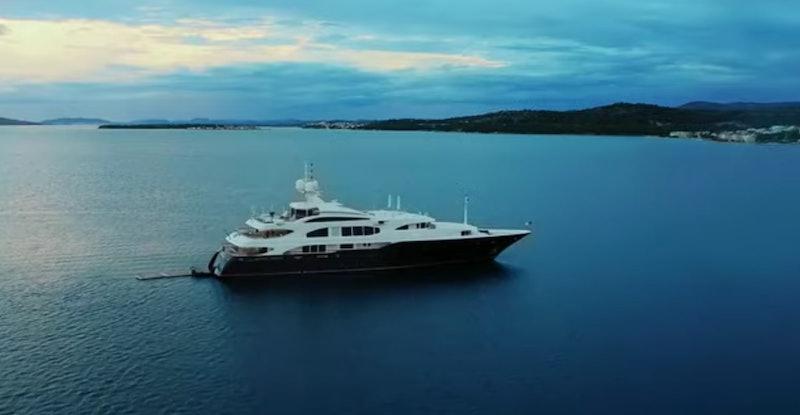 The Lady Michelle Below Deck Mediterranean yacht via a screenshot