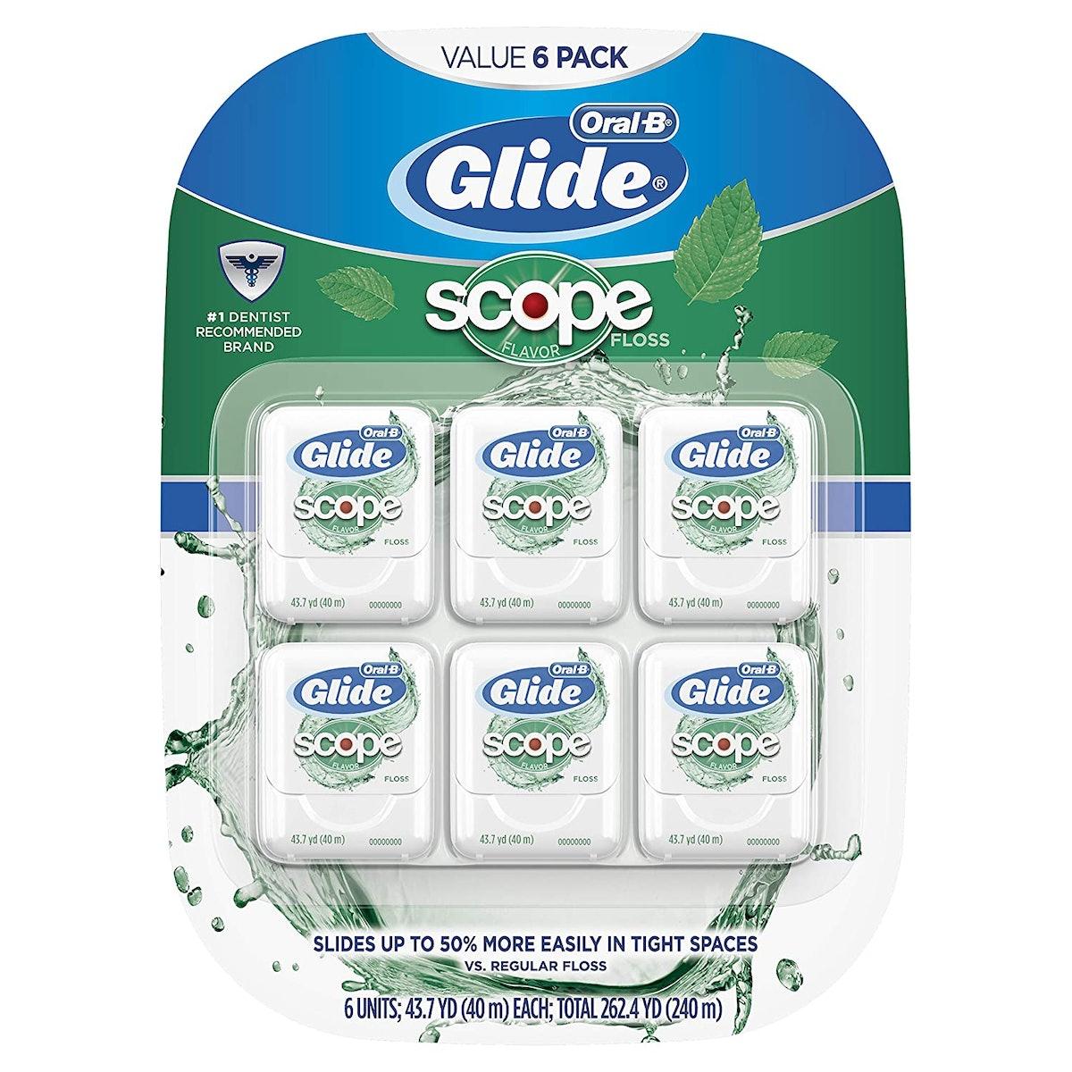 Glide Oral-B Dental Floss, Scope Flavor (6-Pack)