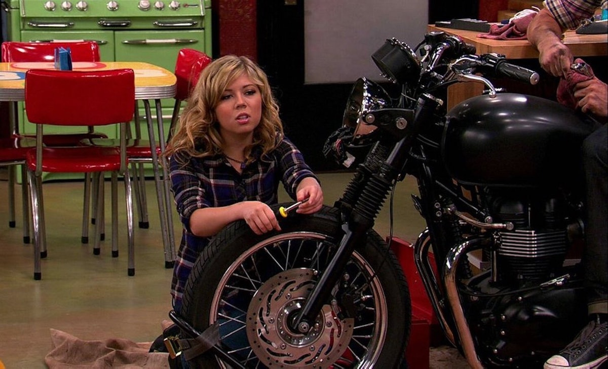 The 'iCarly' reboot explained Sam had joined a biker gang.