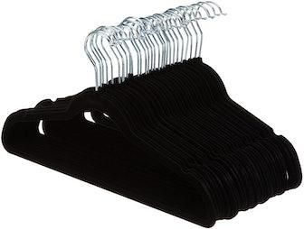 Amazon Basics Slim, Velvet, Non-Slip Clothes Suit Hangers (Pack of 50)