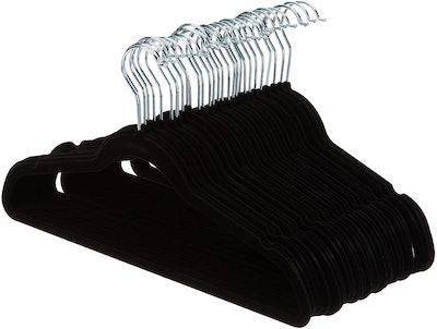 Amazon Basics Slim, Velvet, Non-Slip Clothes Suit Hangers (50-Pack)