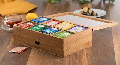mDesign Stackable Tea Bag Storage Box