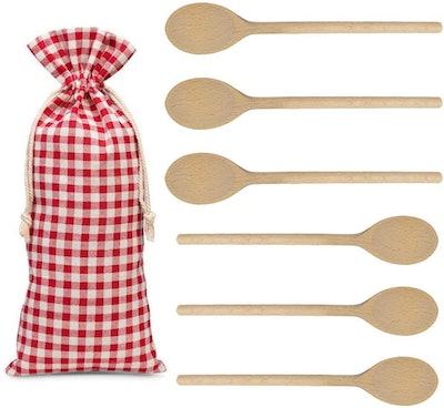 Kutuloo Long Handle Wooden Spoons (6-Piece)