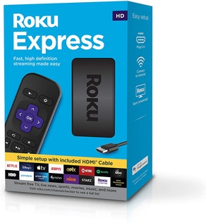 Roku Express   HD Streaming Media Player (with HDMI Cable & Simple Remote)
