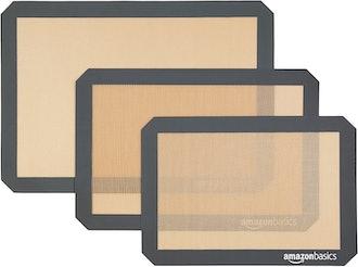 Amazon Basics Silicone Baking Mat (3-Pack)