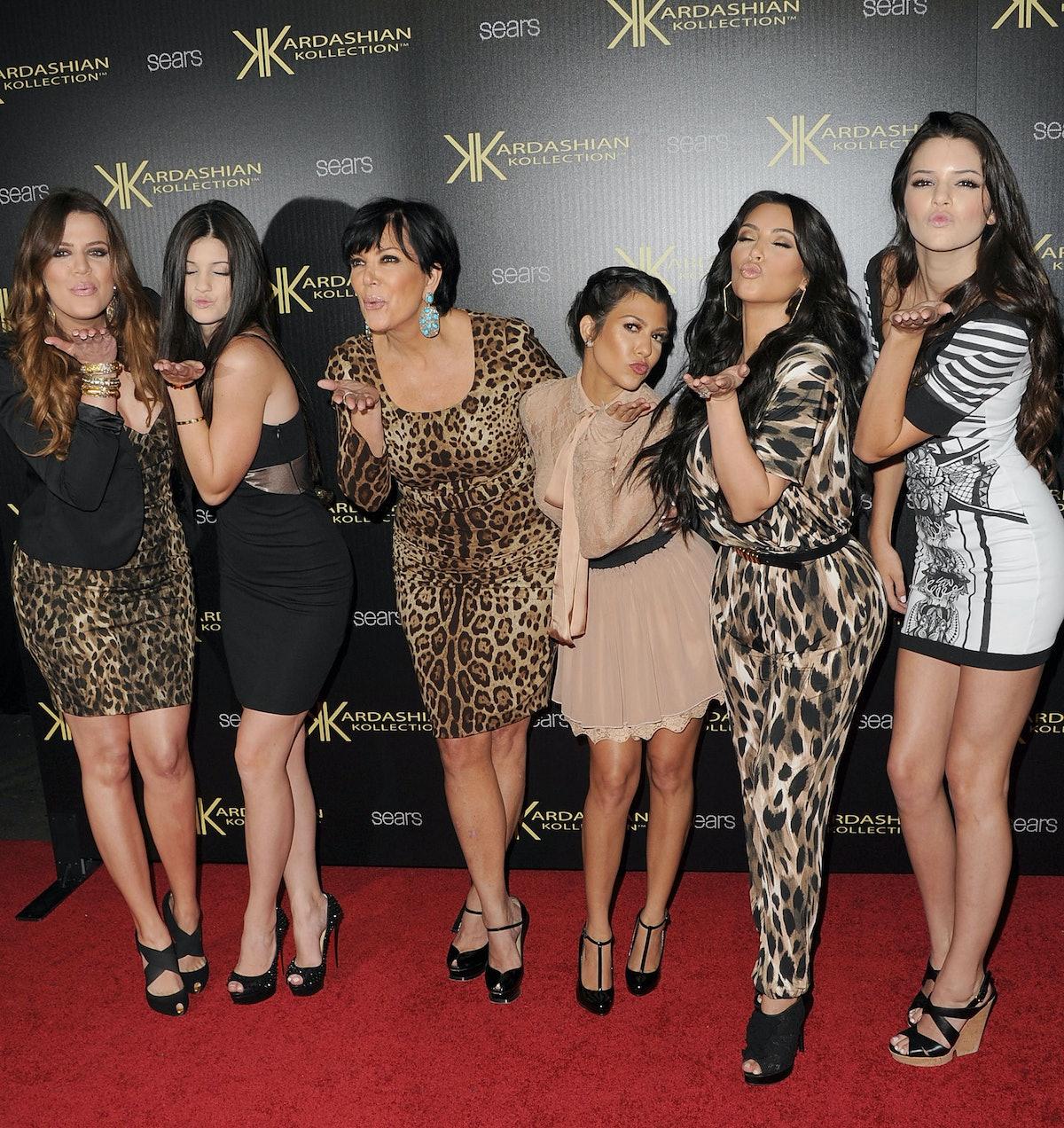 The Kardashians blowing kisses