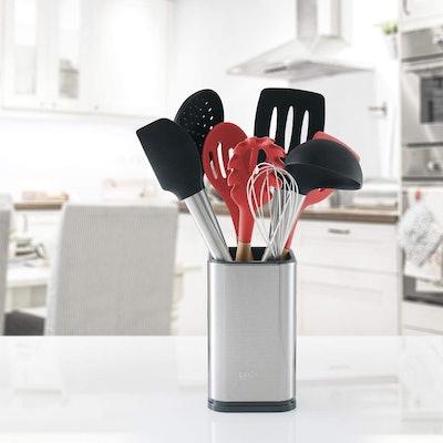 Laxinis World Stainless Steel Kitchen Utensil Holder