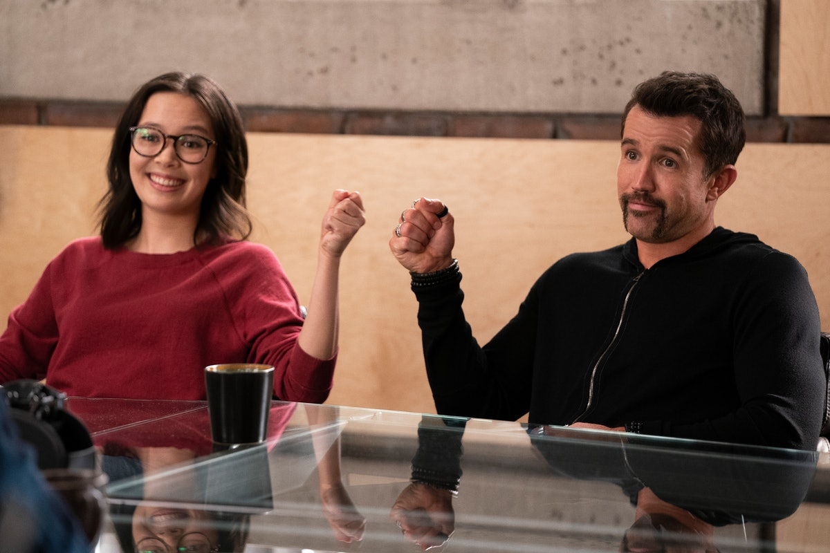 Charlotte and Rob fist bumping