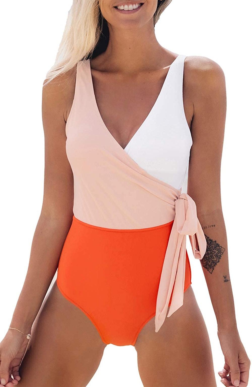 CUPSHE Color Block One-Piece Swimsuit