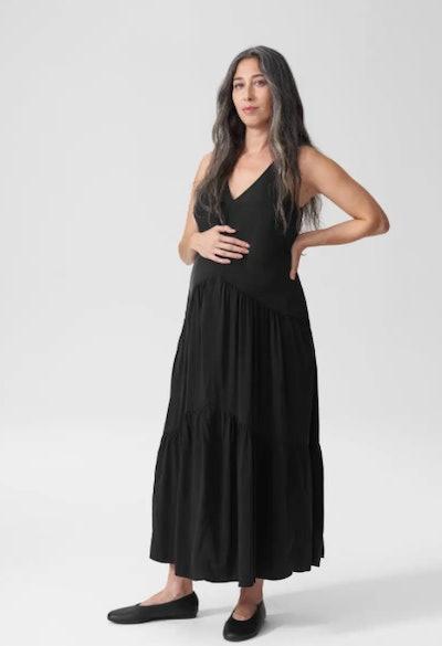 Emily Cupro Maxi Dress Mom