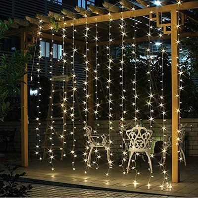 Twinkle Stas LED Window Curtain String Lights