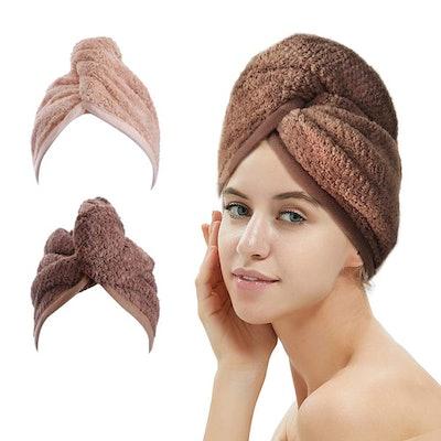 Absorbing Hair Wrap Towels