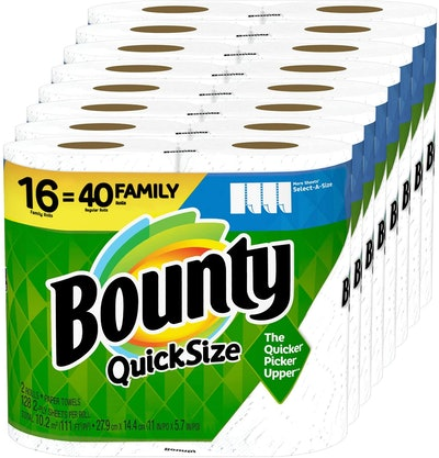 Bounty Quick-Size Paper Towels (16 Family Rolls)