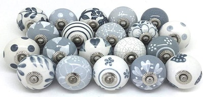 Artncraft Hand Painted Ceramic Knobs