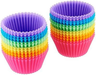Amazon Basics Reusable Silicone Baking Cups