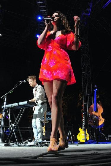 Lana Del Rey performing at Coachella