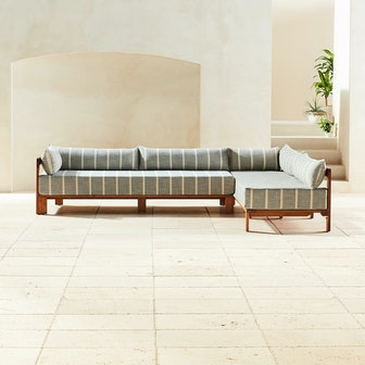 Turn Teak Left Arm/Left Arm Daybed Sectional