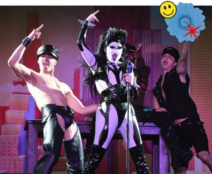 Gottmik performs during Drag 'N' Drive Saves 2021 Tour in San Francisco in May 2021.