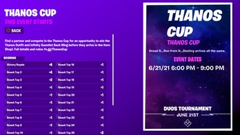 fortnite thanos cup start time