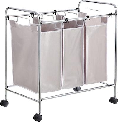 Amazon Basics 3-Bag Laundry Hamper Sorter Basket